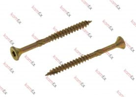 Kamfix wood screw with countersunk head, Type 17 point