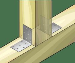 Планка ъглова равнораменна перфорирана