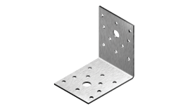 Angle bracket, Equilateral with fixing holes, A2 (stainless steel)