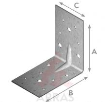 Планка ъглова подсилена равнораменна с фиксиращи отвори