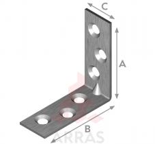 Планка ъглова равнораменна с конусни отвори