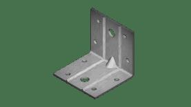 Планка ъглова равнораменна подсилена оребрена
