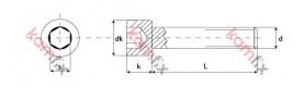 Kamfix hexagon socket head cap screw, DIN 912