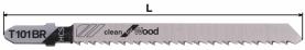 Нож за пробивен трион за дърво (HCS) тип T101BR