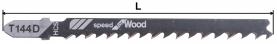 Нож за пробивен трион за дърво (HCS) тип T144D