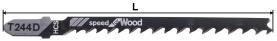 Нож за пробивен трион за дърво (HCS) тип T244D